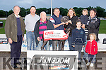 Fastest<br /> ----------<br /> NewInn Tesse won the GAIN dog food sponsored 525 final last Saturday night at the Kingdom Greyhound Stadium, Tralee, L-R Pat Griffin, Kieran Casey, Nelius O'Connell (trainer) Ian Maunsell (Gain dog food) Siobhan Burke (Owner) with Clodagh, Muireann, Eoghan and Patrick Kennedy.