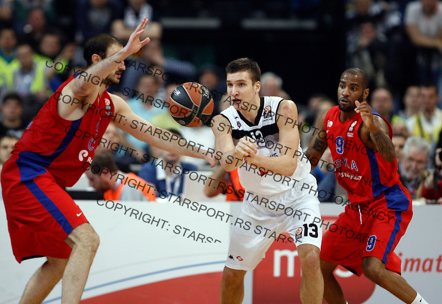 Bogdan Bogdanovic Euroleague basketball game between Partizan and CSKA in Belgrade Arena on January 17, 2014. in Belgrade, Serbia (credit image & photo: Pedja Milosavljevic / STARSPORT / +318 64 1260 959 / thepedja@gmail.com)