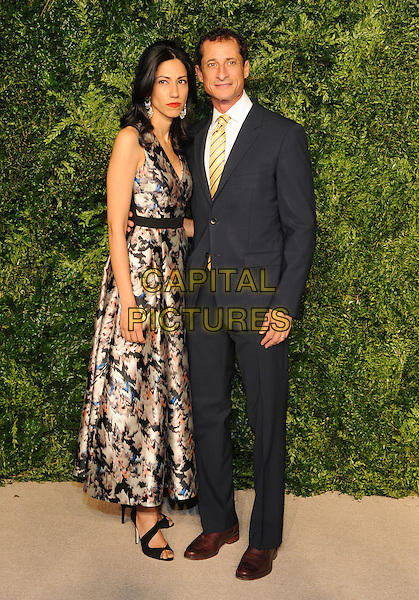 NEW YORK, NY - NOVEMBER 2: Huma Abedin and Anthony Weiner attends the 12th annual CFDA/Vogue Fashion Fund Awards at Spring Studios on November 2, 2015 in New York . <br /> CAP/MPI/STV<br /> &copy;STV/MPI/Capital Pictures
