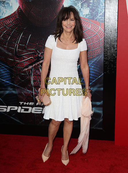 "Sally Field.Los Angeles Premiere Of ""The Amazing Spider-Man"" Held The at Regency Village Theatre, Westwood, California, USA..June 28th, 2012.full length white dress pink clutch bag  .CAP/ADM/FS.©Faye Sadou/AdMedia/Capital Pictures."