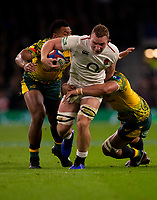 England's Sam Underhill in action during todays match<br /> <br /> Photographer Bob Bradford/CameraSport<br /> <br /> 2018 Quilter Internationals - England v Australia - Saturday 24th November 2018 - Twickenham - London<br /> <br /> World Copyright &copy; 2018 CameraSport. All rights reserved. 43 Linden Ave. Countesthorpe. Leicester. England. LE8 5PG - Tel: +44 (0) 116 277 4147 - admin@camerasport.com - www.camerasport.com