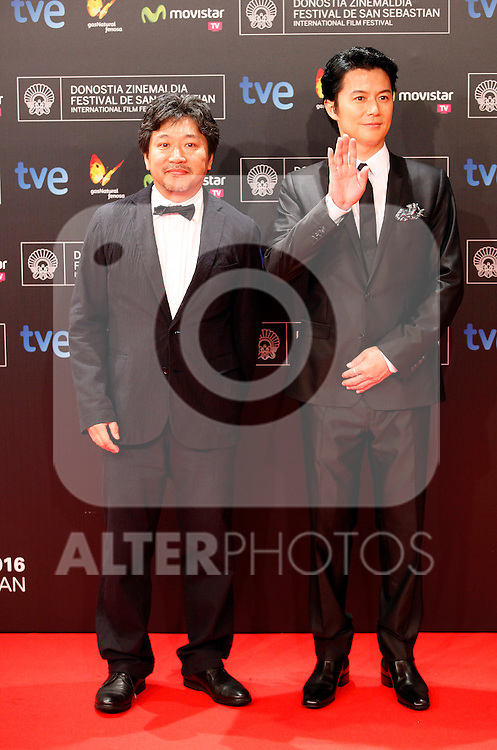 Hirokazu Kore-eda posses in the photocall of the 61 San Sebastian Film Festival, in San Sebastian, Spain. September 20, 2013. (ALTERPHOTOS/Victor Blanco)