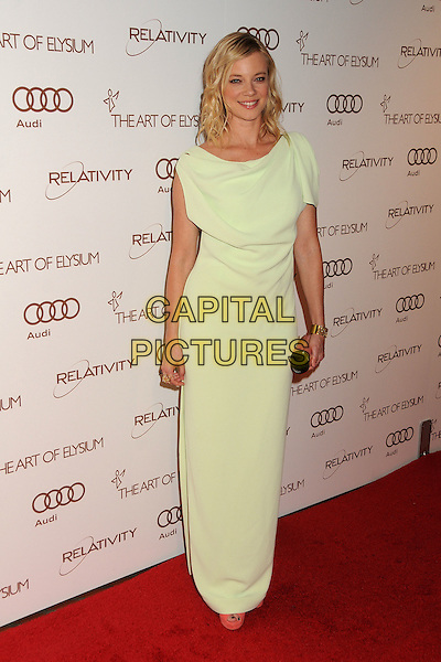 Amy Smart.5th Annual Art Of Elysium Heaven Gala held at Union Station, Los Angeles, California, USA, 14th January 2012..arrivals full length  cream white long maxi dress clutch bag  gold cuff bracelet .CAP/ADM/BP.©Byron Purvis/AdMedia/Capital Pictures.