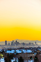 Downtown Denver (with Pikes Peak in background), Colorado USA.