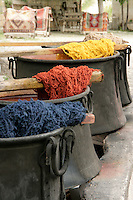 Natural dyes for wool which will be used in carpet making