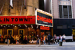 New York City, New York: Chicago Musical in the Theatre District  .Photo #: ny282-15055  .Photo copyright Lee Foster, www.fostertravel.com, lee@fostertravel.com, 510-549-2202.