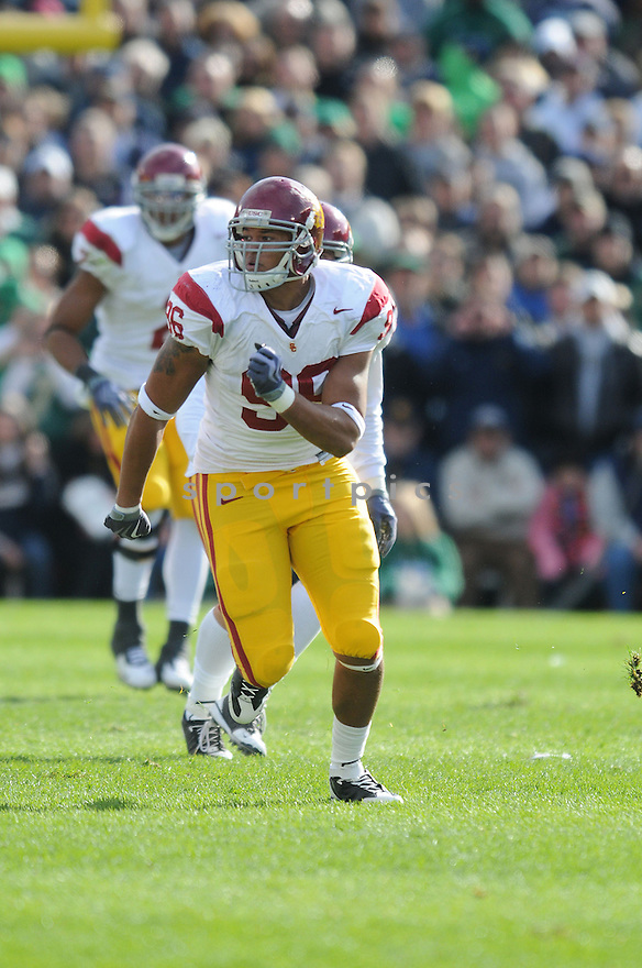 WES HORTON, of the USC Trojans, in action during the Trojans game against the Notre Dame Fighting Irish on October 17, 2009 in South Bend, Indiana. The Trojans  beat the irish  34-27 ..