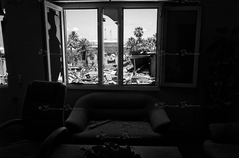Tripoli, Libya, June 15, 2011..An empty hotel building allegedly 'under renovation' was bombed twice and totally destroyed by NATO; no casualties were reported. Rumors were that this building was sometimes used by Seif Al Islam, Muammar Ghaddafi elder son..