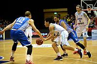 GRONINGEN - Basketbal, Donar - Landstede Zwolle, Martiniplaza, Dutch Basketbal league, seizoen 2018-2019, 02-02-2019, Donar speler Sean Cunningham met Landstede speler Ralf de Pagter