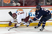 Mike Booth (BC - 12), David Drake (UConn - 5) - The Boston College Eagles defeated the visiting UConn Huskies 2-1 on Tuesday, January 24, 2017, at Kelley Rink in Conte Forum in Chestnut Hill, Massachusetts.