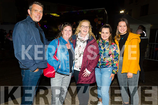 Jim and Brenda McGregor, Liz, Sarah and Rachel Kennelly enjoying the Freshers Fest in the Square on Tuesday night.