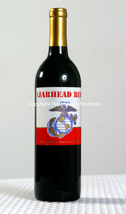 WATERBURY, CT. 27 June 2006-062706SV06--Jarhead Red wine being sold to benefit the Marine Corps Scholarship Foundation. They provide educational assistance to the children of fallen Marines.<br /> Steven Valenti Republican-American