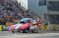 Sept. 22, 2012; Ennis, TX, USA: NHRA funny car driver Cruz Pedregon during qualifying for the Fall Nationals at the Texas Motorplex. Mandatory Credit: Mark J. Rebilas-