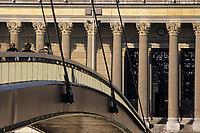 Europe/France/Rhône-Alpes/69/Rhône/Lyon: Palais de justice et les quais de Saône