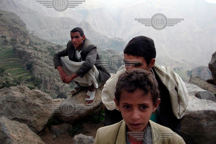 Inhabitants of a mountain village west of Sana'a.