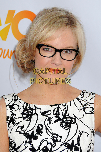 "Rachael Harris.The Trevor Project's ""Trevor Live"" 2012 held at the Hollywood Palladium, Hollywood, California, USA..December 2nd, 2012.headshot portrait black white pattern print glasses .CAP/ADM/BP.©Byron Purvis/AdMedia/Capital Pictures."