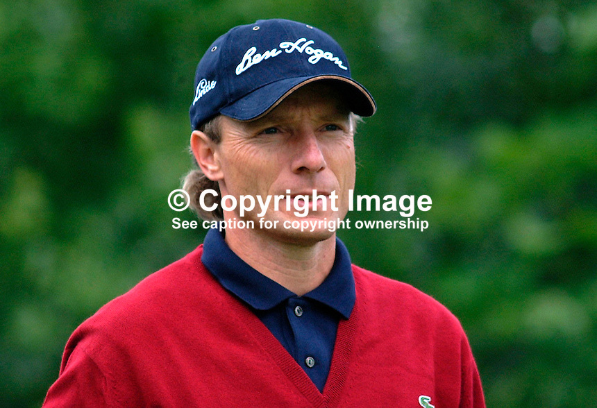 Bernhard Langer, professional golfer, Germany. Picture taken during practice for the Smurfit European Golf Champsionship at the K Club, Co Kildare, Rep of Ireland. Ref: 200207025718...Copyright Image from Victor Patterson, 54 Dorchester Park, Belfast, UK, BT9 6RJ..Tel: +44 28 9066 1296.Mob: +44 7802 353836.Voicemail +44 20 8816 7153.Skype: victorpattersonbelfast.Email: victorpatterson@mac.com.Email: victorpatterson@ireland.com (back-up)..IMPORTANT: If you wish to use this image or any other of my images please go to www.victorpatterson.com and click on the Terms & Conditions. Then contact me by email or phone with the reference number(s) of the image(s) concerned.
