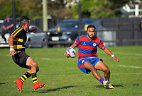 Action from the Horowhenua-Kapiti premier club rugby union match between Foxton and Rahui at Easton Park in Foxton, New Zealand on Saturday, 27 April 2019. Photo: Dave Lintott / lintottphoto.co.nz