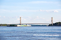 65095-02312 Barge on Mississippi River and Bill Emerson Memorial Bridge Cape Girardeau, MO
