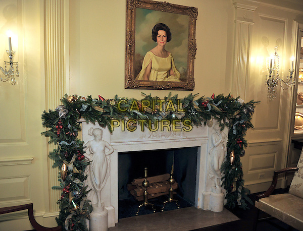 White House Decorations .2012 White House Christmas decorations in Washington, DC on Wednesday, November 28, 2012..christmas holiday season xmas fireplace .CAP/ADM/CNP/RS.©Ron Sachs/CNP/AdMedia/AdMedia/Capital Pictures.