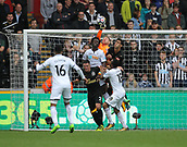 10th September 2017, Liberty Stadium, Swansea, Wales; EPL Premier League football, Swansea versus Newcastle United; Rob Elliot of Newcastle United punches the ball from danger