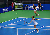 21-12-13,Netherlands, Rotterdam,  Topsportcentrum, Tennis Masters, Lady's double final Danielle Harmsen and Olga Kalyuzhnaya(NED)<br /> Photo: Henk Koster