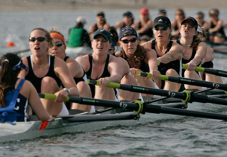 Rowing, San Diego Crew Classic, women's masters eights, Lake Washington Rowing Club, Mission Bay, San Diego, California, West Coast, USA, released,.