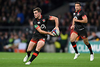 George Ford of England looks to pass the ball. Old Mutual Wealth Series International match between England and Argentina on November 11, 2017 at Twickenham Stadium in London, England. Photo by: Patrick Khachfe / Onside Images