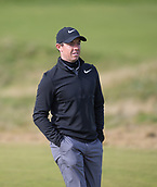6th October 2017, Carnoustie Golf Links, Carnoustie, Scotland; Alfred Dunhill Links Championship, second round; Rory McIlroy, of Northern Ireland, walks down the 5th Fairway during the second round at the Alfred Dunhill Links Championship on the Championship Links, Carnoustie