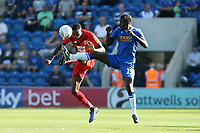 Col U's Theo RObinson & Marvin Ekpiteta during Colchester United vs Leyton Orient, Sky Bet EFL League 2 Football at the JobServe Community Stadium on 21st September 2019