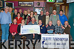 PRESENTATION: Memebers of the Greyhound Golf Society presenting a cheque for EUR5,000 with funds rasied durning the society's Golf Classic to members of St John Gods at the Greyhound bar on Thursday..
