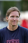 22 July 2009: United States assistant coach Hege Risse (NOR). The United States Women's National Team defeated the Canada Women's National Team 1-0 at Blackbaud Stadium in Charleston, South Carolina in an international friendly soccer match.