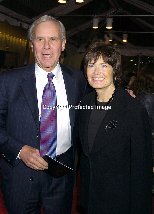 Tom Brokaw and wife Meredith ..at the Re-opening party  for The Museum of Modern Art on ..November 18, 2004 in New York City. ..Photo by Robin Platzer, Twin Images