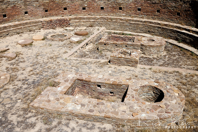 The Great Kiva of Chetro Ketl at Chaco Culture National Historical Park in New Mexico.