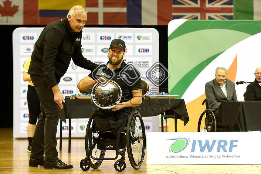 Ryley Batt (AUS) vs Japan<br /> Australian Wheelchair Rugby Team<br /> 2018 IWRF WheelChair Rugby <br /> World Championship / Finals<br /> Sydney  NSW Australia<br /> Friday 10th August 2018<br /> © Sport the library / Jeff Crow / APC