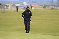 Lucas Bjerregaard (DEN) on the 16th fairway during round 4 of the Alfred Dunhill Links Championship at Old Course St. Andrew's, Fife, Scotland. 07/10/2018.<br /> Picture Thos Caffrey / Golffile.ie<br /> <br /> All photo usage must carry mandatory copyright credit (&copy; Golffile | Thos Caffrey)
