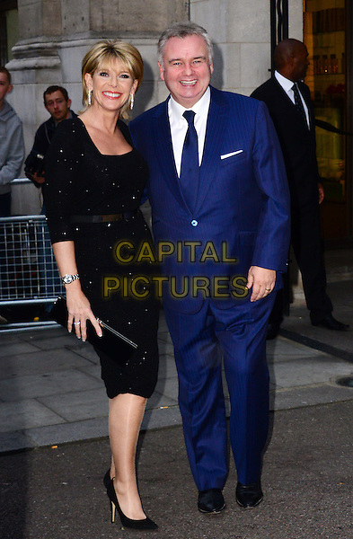 Ruth Langsford &amp; Eamonn Holmes<br /> The Daily Mirror's Pride of Britain Awards arrivals at the Grosvenor House Hotel, London, England.<br /> 7th October 2013<br /> full length black dress blue suit married husband wife <br /> CAP/BF<br /> &copy;Bob Fidgeon/Capital Pictures