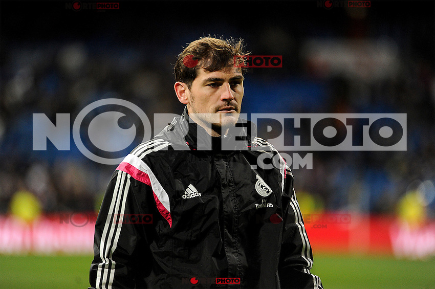 Real Madrid´s goalkeeper Iker Casillas during 2014-15 La Liga match between Real Madrid and Levante UD at Santiago Bernabeu stadium in Madrid, Spain. March 15, 2015. (ALTERPHOTOS/Luis Fernandez) /NORTEphoto.com