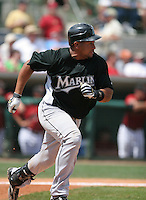 Miguel Olivio of the Florida Marlins vs. the Houston Astros March 15th, 2007 at Osceola County Stadium in Kissimmee, FL during Spring Training action.  Photo By Mike Janes/Four Seam Images