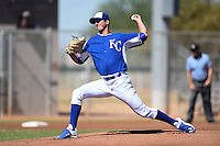 Kansas City Royals pitcher Foster Griffin (33) during an Instructional League game against the Cincinnati Reds on October 14, 2014 at Goodyear Training Facility in Goodyear, Arizona.  (Mike Janes/Four Seam Images)