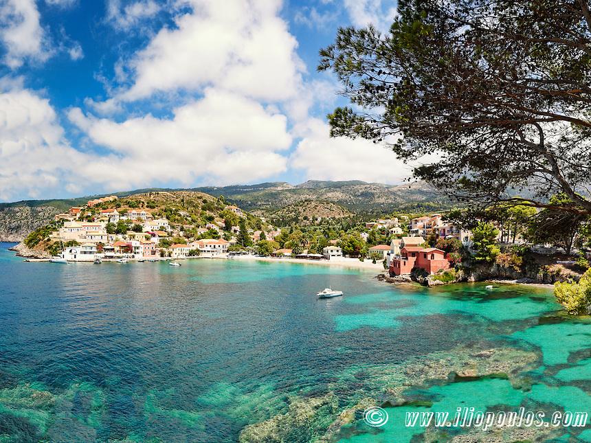 The famous village Assos in Kefalonia island, Greece