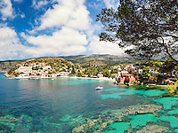 The famous village Assos in Kefalonia island, Greece
