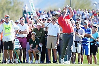 Jon Rahm (ESP) In action during the final round of the Waste Management Phoenix Open, TPC Scottsdale, Phoenix, Arizona, USA. 01/02/2020<br /> Picture: Golffile | Phil INGLIS<br /> <br /> <br /> All photo usage must carry mandatory copyright credit (© Golffile | Phil Inglis)