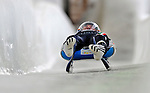 7 February 2009:  Armin Zoggeler slides for Italy finishing second in the Men's Competition with a combined time of 1:44.549 at the 41st FIL Luge World Championships, in Lake Placid, New York, USA. .  .Mandatory Photo Credit: Ed Wolfstein Photo