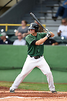 Clinton LumberKings first baseman Jeff Zimmerman (32) at bat during a game against the Beloit Snappers on August 17, 2014 at Ashford University Field in Clinton, Iowa.  Clinton defeated Beloit 4-3.  (Mike Janes/Four Seam Images)