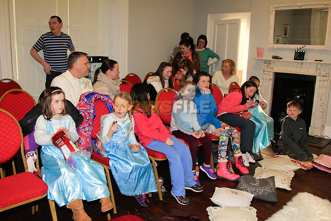 Part of the crowd at the Dunleer Film Club putting on 'Frozen: A Sing Along Version' in Market House Dunleer on Friday 24th January 2015.<br /> Picture:  Thos Caffrey / www.newsfile.ie