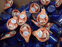 Pods of Pumpkin Pie Spice flavored non-dairy creamer from International Delights are seen in a convenience store in New York on Tuesday, September 2, 2014. This September is the month of the pumpkin flavor craze with a multitude companies adding a pumpkin -flavored item to their line up. Starbucks, McDonald's and Dunkin Donuts have all added items as well as Baskin-Robbins, Oreo cookies and Pinnacle even has a pumpkin flavored vodka. Last year pumpkin flavored sales in the US jumped 14 percent. (© Richard B. Levine)