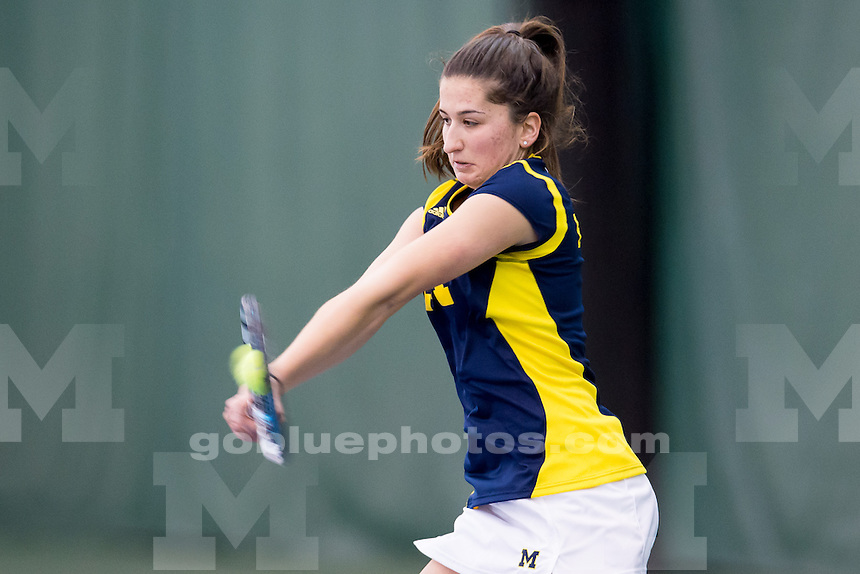 The University of Michigan women's tennis team hosts South Carolina, Texas Tech and South Florida University in Day 1 of the 2015 Michigan Invitational at the Varsity Tennis Center in Ann Arbor, Mich., on Jan. 17, 2015.