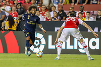 Landover, MD - July 23, 2019: Real Madrid Marcelo (12) makes a move during the match between Arsenal and Real Madrid at FedEx Field in Landover, MD.   (Photo by Elliott Brown/Media Images International)