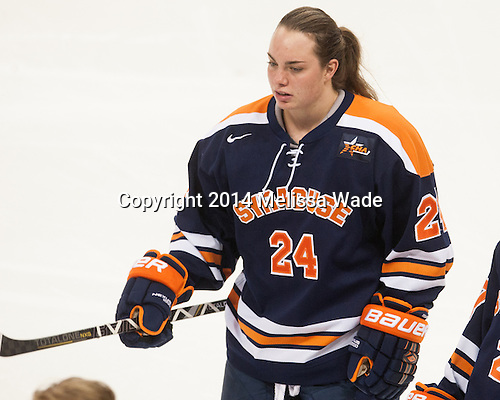 Eleanor Haines (SU - 24) - The Boston College Eagles defeated the visiting Syracuse University Orange 10-2 on Saturday, October 4, 2014, at Kelley Rink in Conte Forum in Chestnut Hill, Massachusetts.